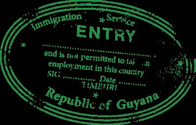 Passport Stamp Guyana