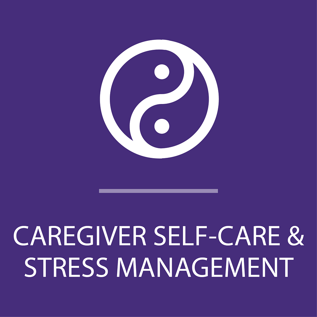 Icon for caregiver self-care and stress management program