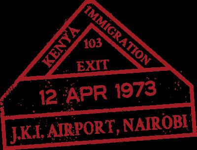 Kenya passport stamp